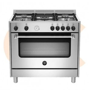 LA GERMANIA Freestanding Cooker 90 x 60 cm 5 Gas Burners In Stainless Steel Color