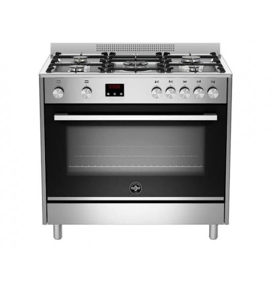 LA GERMANIA Freestanding Cooker 90 x 60 cm 5 Gas Burners In Stainless X Black Color