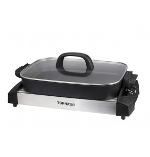 TORNADO Electric Grill 1500 Watt In Black x Stainless Color TCS-1500