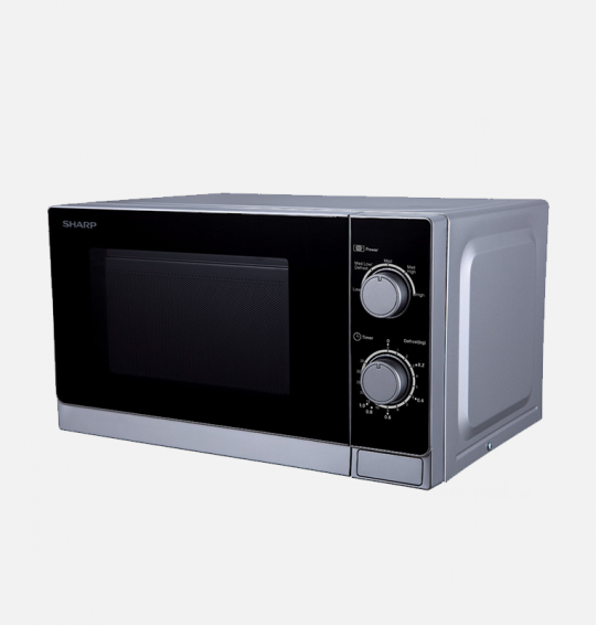 (SHARP Microwave Solo 20 Litre, 800 Watt in Silver Color R-20CR(S