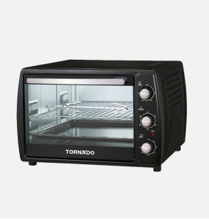 TORNADO Electric Oven 45 litre , 1800 Watt in Black Color With Grill and Fan EOY-Z45BAE-BK