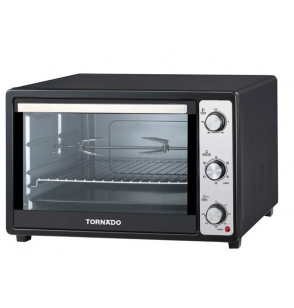 TORNADO Electric Oven 48 litre, 1800 Watt in Black Color With Grill and Fan TEO-48DGE(K)