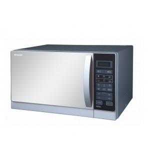 ميكروويف شارب شواية سعة 25 لتر ، 900 وات لون سيلفر مزود بـشواية و 6 قوائم للطهي (R-750MR(S