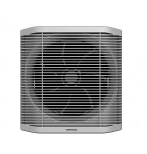 TORNADO Bathroom Ventilating Fan 25cm x 25cm In Grey x Black With Privacy Grid TVS-25BG