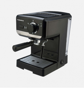 TORNADO Manual Espresso Coffee Machine 15 Bar 1.7 Liter, 960-1140 Watt in Black Color TCM-11415-B