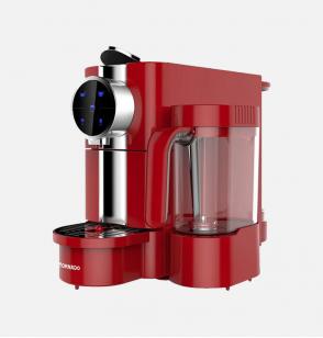 ماكينة قهوة إسبريسو - كبسولات أوتوماتيك ماركة تورنيدو 0.65 لتر ، 1050 وات لون أحمر TCMN-C65R