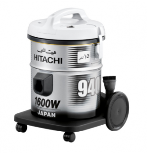 HITACHI Pail Can Vacuum Cleaner 1600 Watt In Grey Color With Cloth Filter CV-940Y 220CE PG