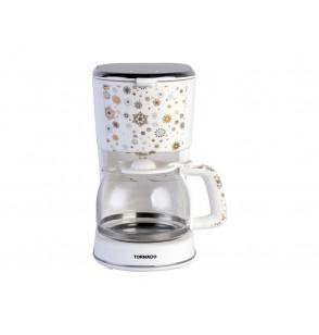 TORNADO Automatic American Coffee Maker 1.25 Liter, 900 Watt in White Color TCMA-9125-C