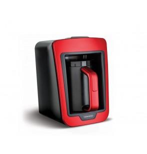 TORNADO Automatic Turkish Coffee Maker 330ml, 735 Watt in Red x Black Color TCME-100 RG