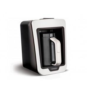TORNADO Automatic Turkish Coffee Maker 330ml, 735 Watt in White x Black Color TCME-100 W