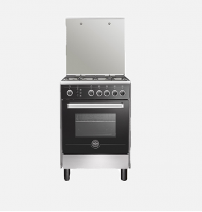 LA GERMANIA Freestanding Cooker 60 x 60 cm 4 Gas Burners In Stainless x Black Color 6M80GRB1X4AWW