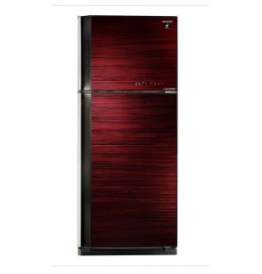 ثلاجة شارب انفرتر ديجيتال نوفروست سعة 450 لتر ، 2 باب زجاجي لون أحمر مزودة بتكنولوجيا البلازما كلاستر SJ-GV58A(RD)
