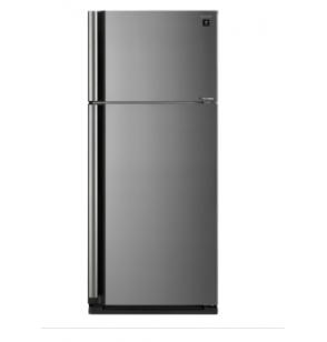 SHARP Refrigerator Inverter No Frost 599 Liter , 2 Doors In Silver Color With Plasmacluster SJ-SE70D-SL
