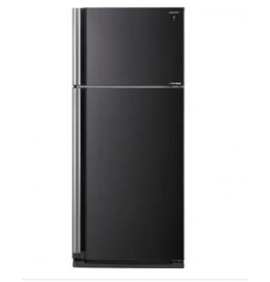 ثلاجة شارب انفرتر نوفروست سعة 599 لتر ، 2 باب لون أسود مزودة بتكنولوجيا البلازما كلاستر SJ-SE70D-BK