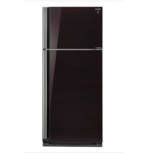 SHARP Refrigerator Inverter Digital No Frost 599 Liter , 2 Glass Doors In Black Color SJ-GP70D-BK