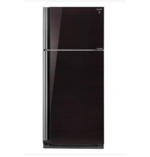ثلاجة شارب انفرتر ديجيتال نوفروست سعة 599 لتر ، 2 باب زجاجي لون أسود مزودة بتكنولوجيا البلازما كلاستر SJ-GP70D-BK