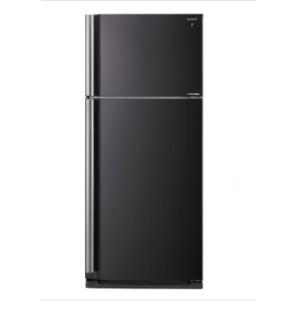 ثلاجة شارب انفرتر نوفروست سعة 642 لتر ، 2 باب لون أسود مزودة بتكنولوجيا البلازما كلاستر SJ-SE75D-BK