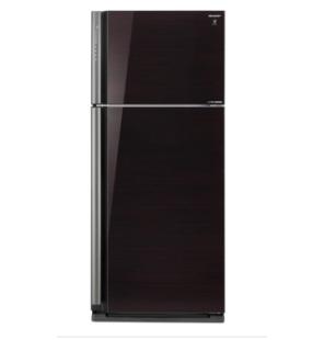 ثلاجة شارب انفرتر ديجيتال نوفروست سعة 642 لتر ، 2 باب زجاجي لون أسود مزودة بتكنولوجيا البلازما كلاستر SJ-GP75D-BK