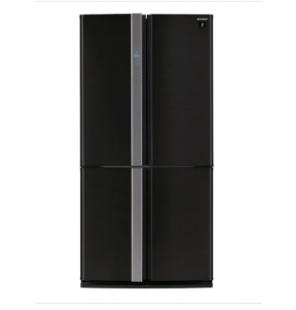 ثلاجة شارب ديجيتال نوفروست سعة 605 لتر ، 4 باب استانلس لون أسود مزودة بتكنولوجيا البلازما SJ-FP85V-BK