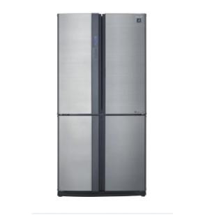 SHARP Refrigerator Inverter Digital Advanced No Frost 605 Liter , 4 Doors In Stainless Color SJ-FE87V-SS