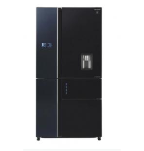 ثلاجة شارب انفرتر ديجيتال نوفروست متقدم سعة 650 لتر ، 5 باب زجاجي لون أسود ، تكنولوجيا البلازما كلاستر SJ-FSD910N-BK