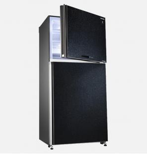 ثلاجة شارب انفرتر ديجيتال نوفروست سعة 538 لتر ، 2 باب زجاجي لون أسود مزودة بتكنولوجيا البلازما كلاستر SJ-GV69G-BK