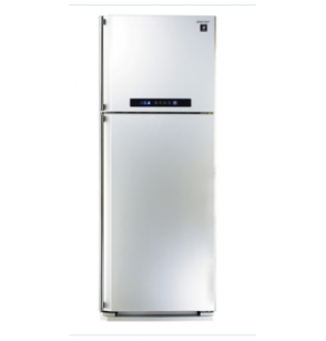 SHARP Refrigerator Digital No Frost 385 Liter , 2 Doors In White Color With Plasmacluster SJ-PC48A(W)