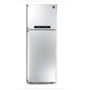 ثلاجة شارب ديجيتال نوفروست سعة 385 لتر ، 2 باب لون أبيض مزودة بتكنولوجيا البلازما كلاستر SJ-PC48A(W)