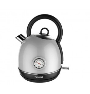 TORNADO Stainless Steel Kettle 1.7 Liter, 1850-2200 Watt In Stainless Color TKS-2217TR
