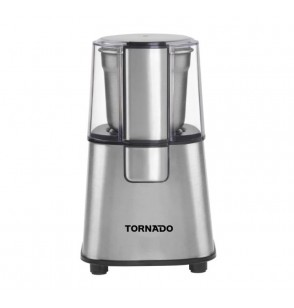 TORNADO Coffee Grinder 180-220 Watt With Stainless Steel Blade In Stainless Color TCG-220