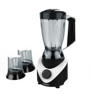 TORNADO Electric Blender 500 Watt , 1.5 Litre With 2 Mills In Black x White Color BL500/2