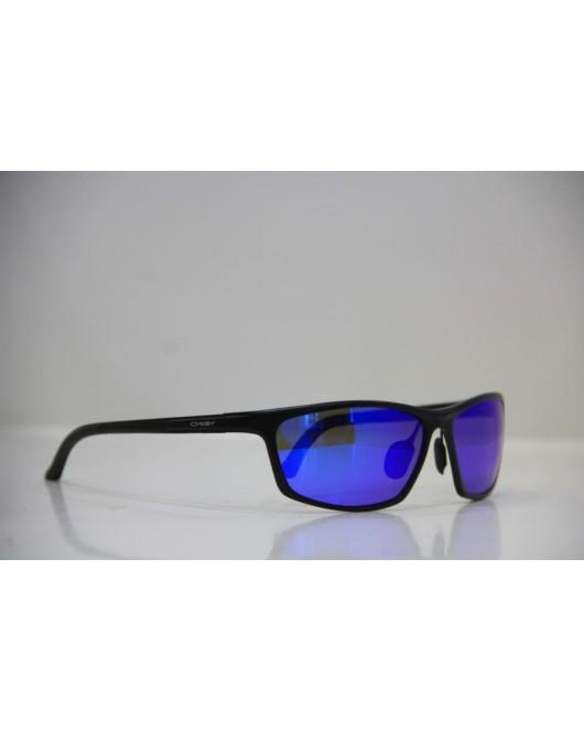Men's blue eyes black sunglasses