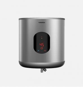 سخان مياه تورنيدو كهرباء 35 لتر مزود بشاشة ديجيتال لون سيلفر EWH-S35CSE-S