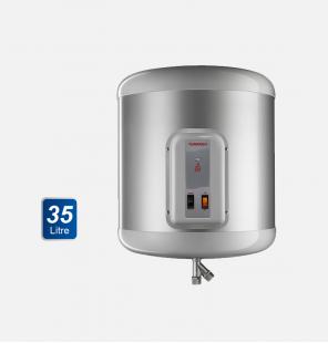 سخان مياه تورنيدو كهرباء 35 لتر لون سيلفر مزود بلمبة إل إي دي كمؤشر لدرجة الحرارة EHA-35TSM-S