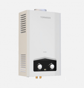 سخان مياه تورنيدو غاز 6 لتر مزود بشاشة ديجيتال و يعمل بغاز البوتاجاز لون أبيض GHM-C06CTE-W