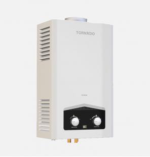 سخان مياه تورنيدو غاز 10 لتر مزود بشاشة ديجيتال و يعمل بغاز البوتاجاز لون أبيض GHM-C10CTE-W