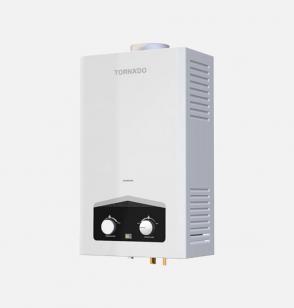 سخان مياه تورنيدو غاز 10 لتر مزود بشاشة ديجيتال و يعمل بالغاز الطبيعي لون أبيض GHM-C10BNE-W