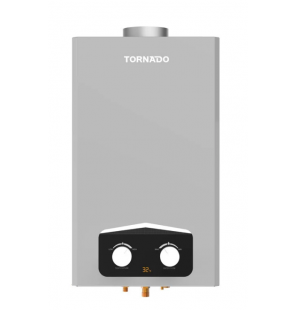TORNADO Gas Water Heater 10 Litre Digital For Natural Gas In Silver Color GHM-C10BNE-S