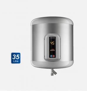 سخان مياه تورنيدو كهرباء 35 لتر لون سيلفر مزود بشاشة ديجيتال EHA-35TSD-S